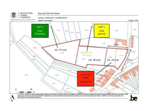 Bernissart: mise en vente d'un beau terrain d'1ha dont 25 ares sont à bâtir
