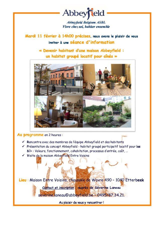 mardi 11/02 : Visite d'habitat groupé locatif pour seniors Abbeyfield